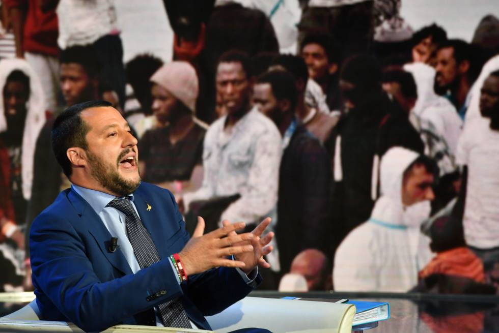 Matteo Salvini, ministro del Interior italiano. AFP PHOTO  Andreas SOLARO