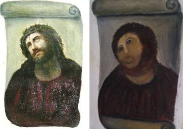 The notorious 'Ecce Homo' restoration.