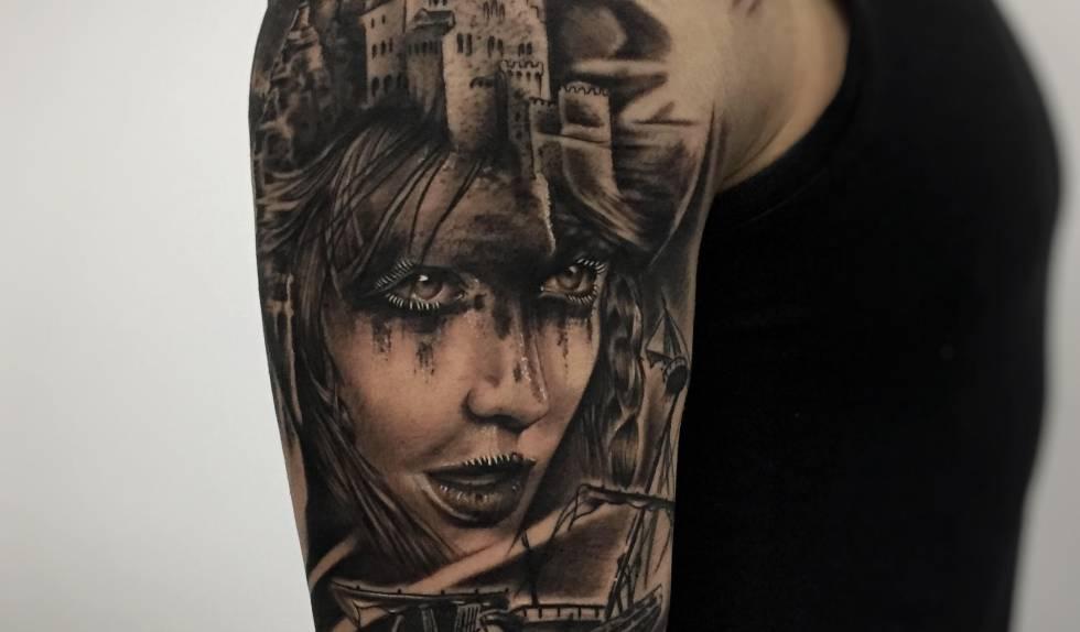Tatuaje vegano de Ink Sweet Tattoo, en Madrid.