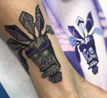 Otro de los trabajos de tatuaje realizado con tinta vegana en Ink Sweet Tattoo.