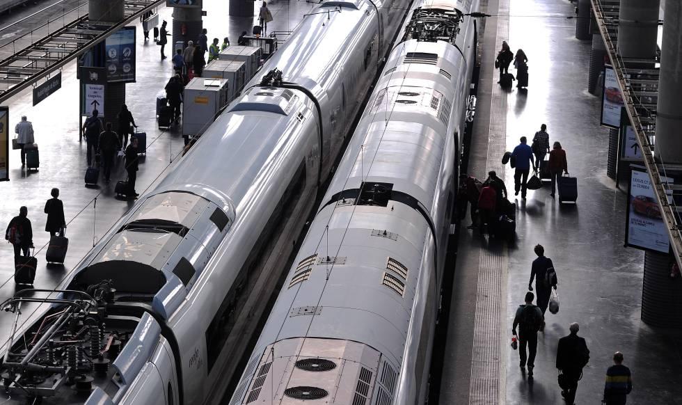 Estación de trenes de Atocha.