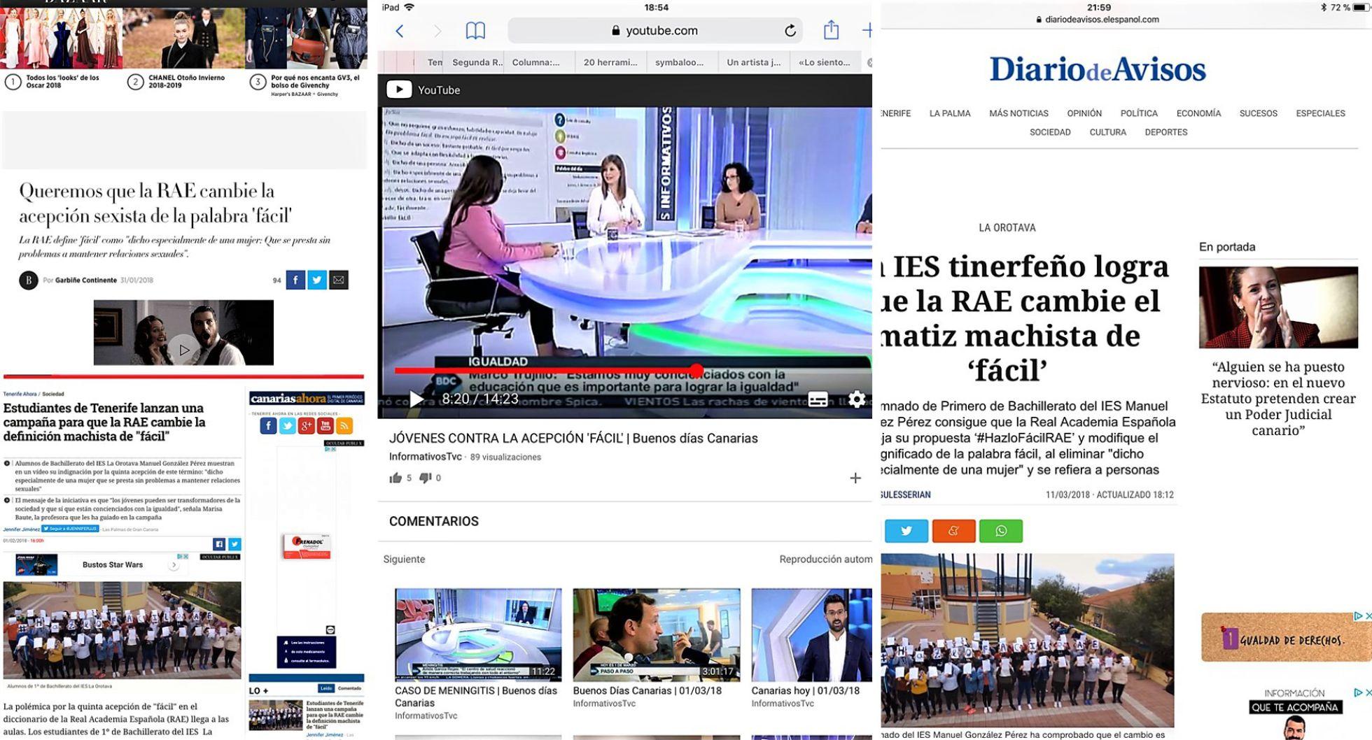 Repercusión en Medios de comunicación | MARISA BAUTE BÁEZ