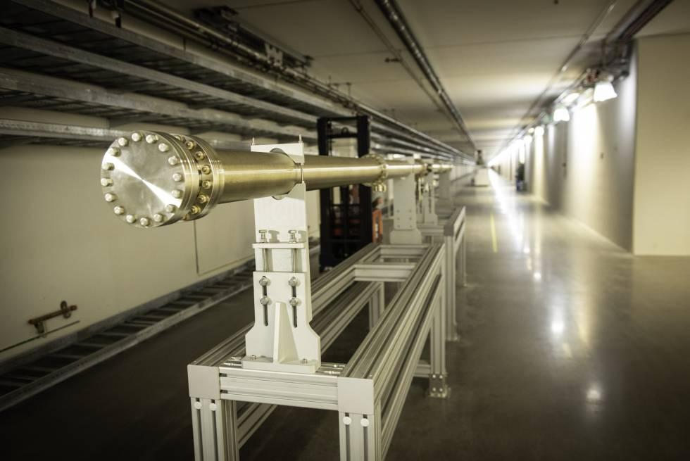 Túnel del acelerador lineal de la Fuente Europea de Neutrones por Espalación, el Lund (Suecia).