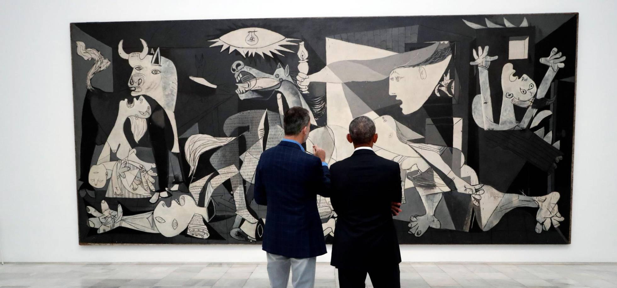 Museo Reina Sofia.Fotos La Visita Del Rey Y Obama Al Museo Reina Sofia En Imagenes