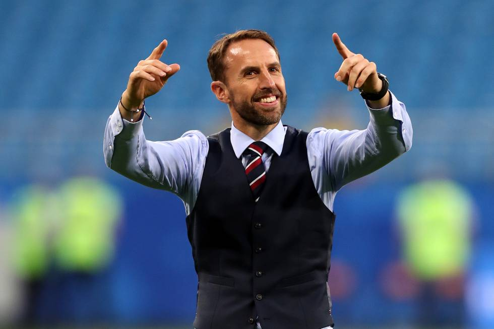 gareth southgate el talismán de la selección inglesa es un chaleco
