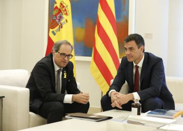 Catalan premier meets Spanish PM, insists on right to self-determination