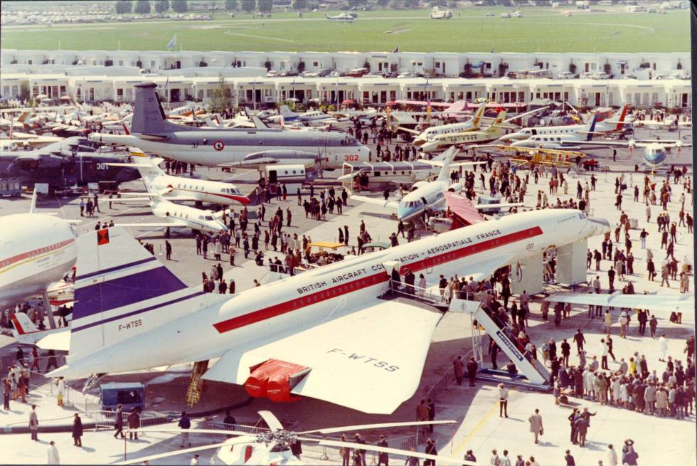 Concorde 001 en el Paris Air Show de 1971.