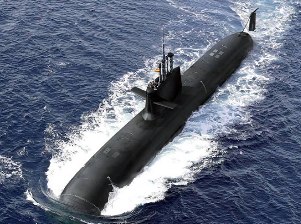 Virtual rendition of the submarine S-80Plus.