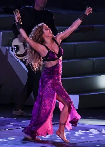 La actuación de Shakira en la apertura de los Juegos Centroamericanos y del Caribe de Barranquilla, Colombia, el 19 de julio de 2018..