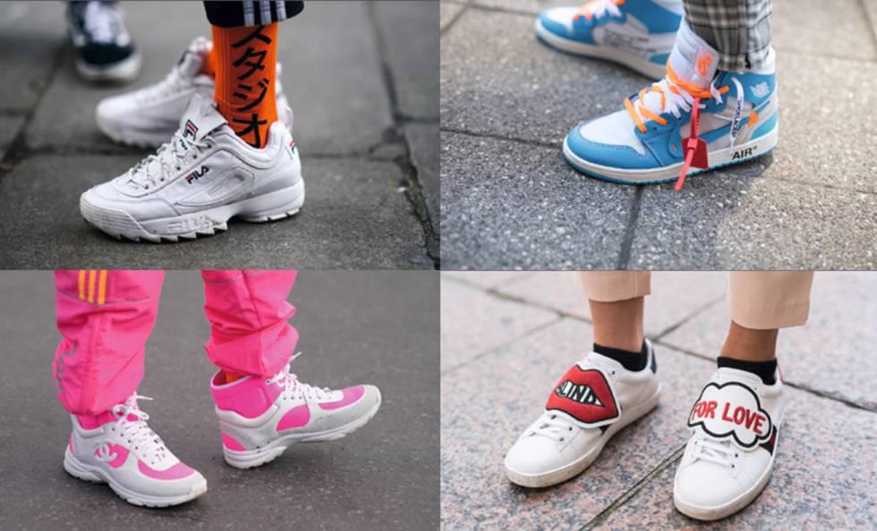 221f88983e De arriba a abajo, de izquierda a derecha: Zapatillas Fila, Air Jordan I