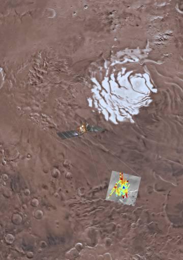 Recreación artísitica del trabajo realizado por la sonda espacial.