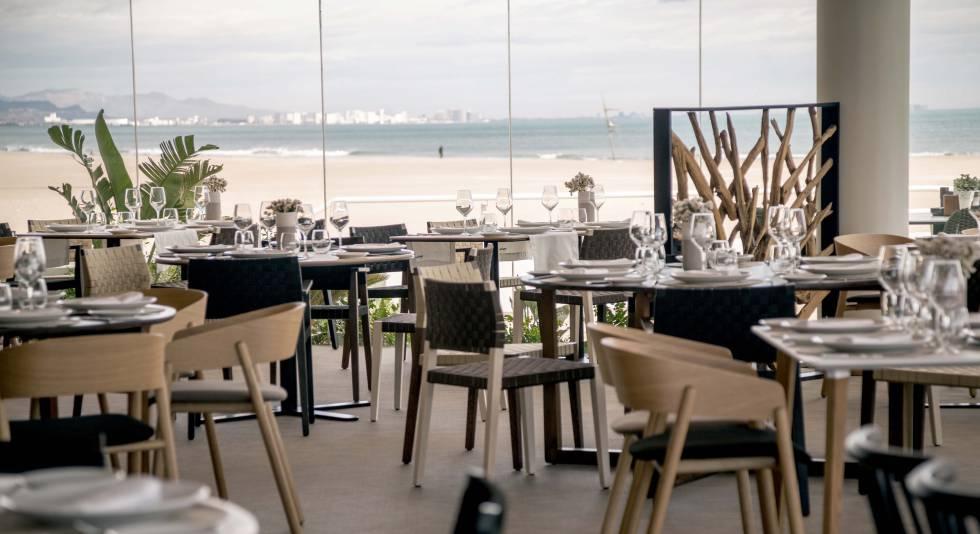 Restaurante Marina en la paya de Las Arenas, en Valencia.