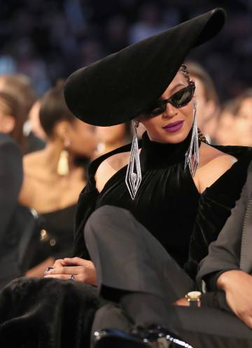 Beyoncé at the Grammy awards in New York, in January 2018.