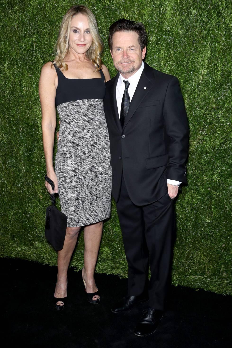 Una de las más recientes apariciones públicas de Michael J. Fox: con su esposa Tracy Pollan en la gala Museum of Modern Art Film Tenth Annual Benefit en 2017.