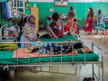 En este hospital de Calcuta (India) especializado en tuberculosis, reciben tratamiento los enfermos más graves.