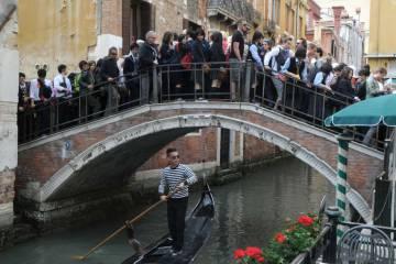 Saturación turística en Venecia.