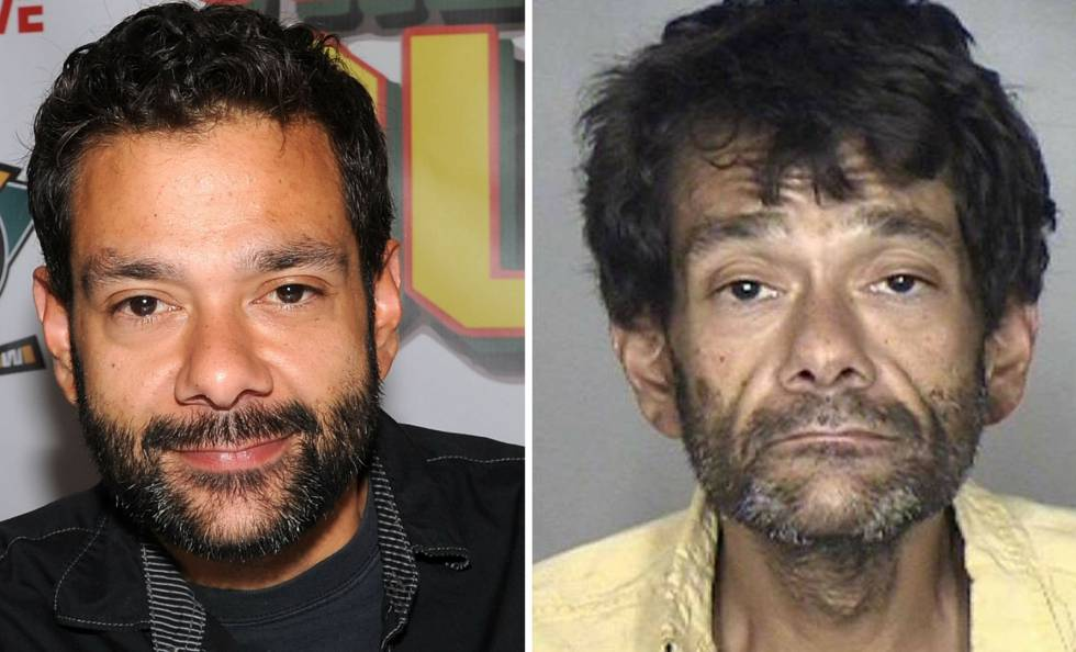 El actor Shaun Weiss en abril de 2015 y en agosto de 2018.