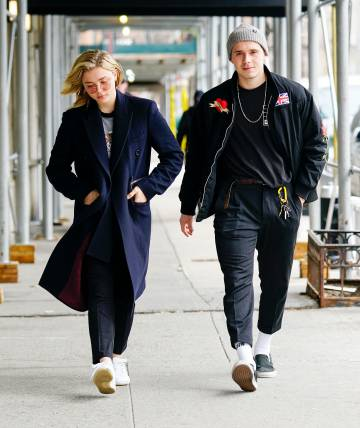 Brooklyn Beckham and Chloë Grace Moretz in New York city last march 4.