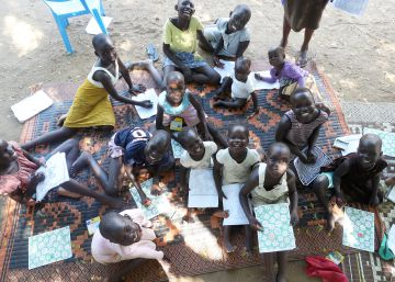 Confident Children out of Conflict (CCC) de Unicef en Juba, Sudán del Sur.