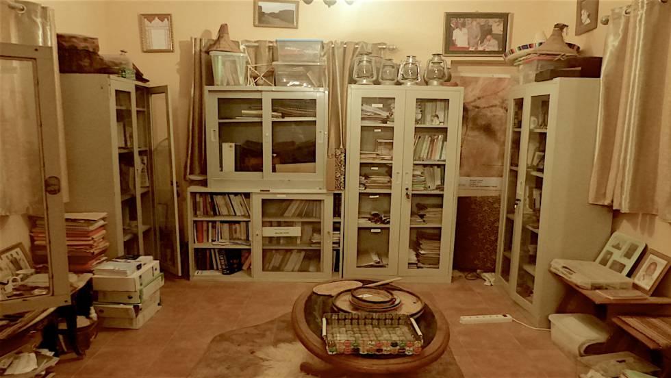 Una de las salas de la biblioteca de Gemal, en Nuakchot.