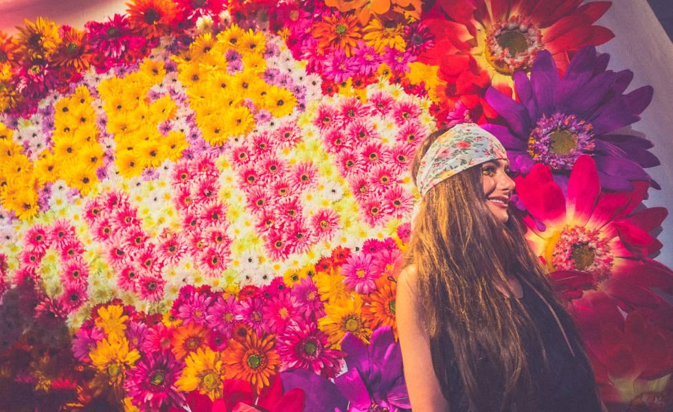 Una fiesta Flower Power celebrada en Pacha Ibiza el 28 de mayo de 2018.