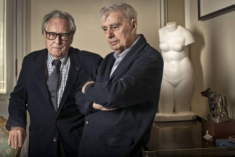 Los arquitectos Fernando de Terán (izquierda) y Antonio Fernández Alba, que participaron en el proyecto de los pueblos de colonización.