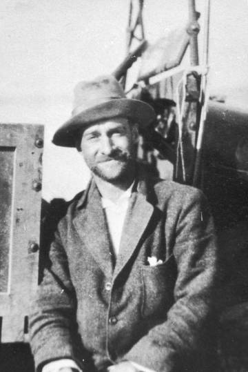 El explorador británico Ralph Bagnold, en 1929.