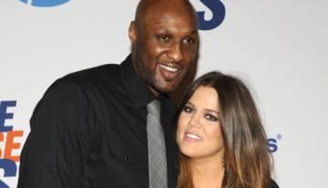 Lamar Odom y Khloe Kardashian-Odom en Los Ángeles en 2012.