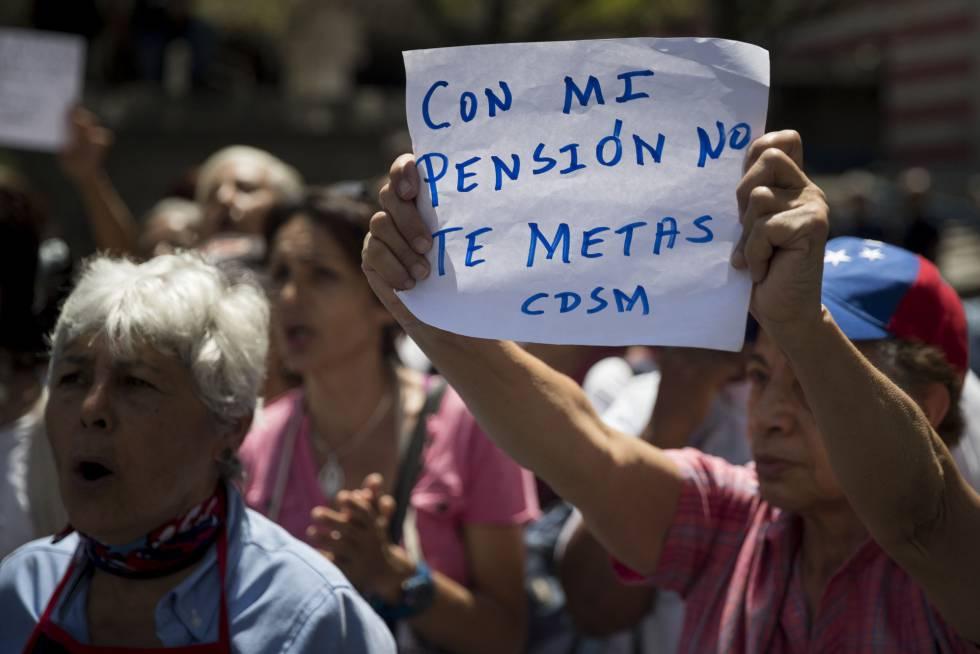 Protestas de pensionistas en Venezuela