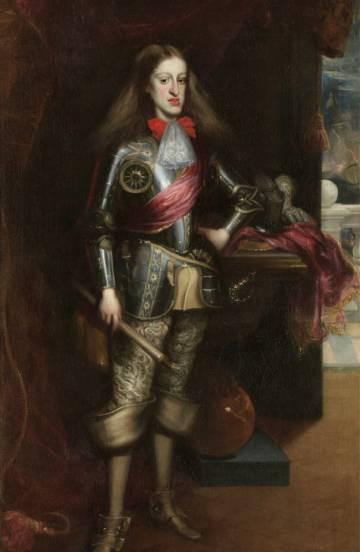 Tras su fallecimiento, se utilizó la vapuleada imagen de Carlos II (en la imagen) para enaltecer y legitimar al nuevo rey, Felipe V de la casa de los Borbones.