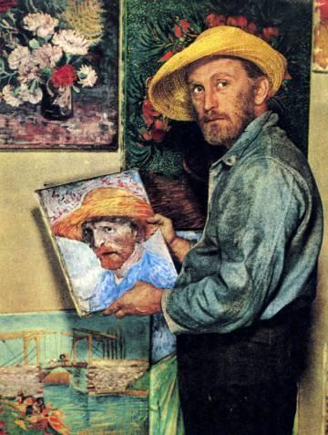De acordo com os acadêmicos alemães Hans Kaufmann e Rita Wildegans, Gauguin cortou parte do lóbulo esquerdo de Van Gogh com uma espada. Na imagem, Kirk Douglas interpreta o pintor em ' Sede de Viver' (1958)