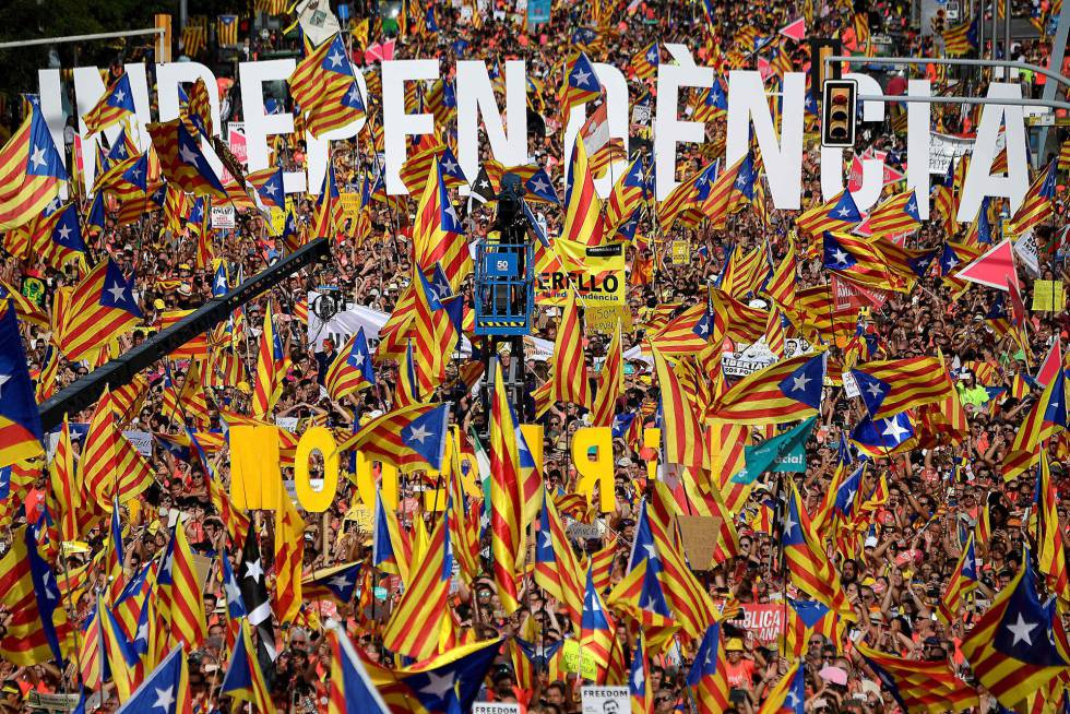 catalan secession bid on catalonia day separatists march for