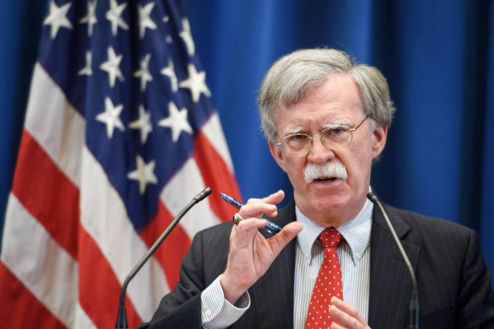 El Consejero de Seguridad Nacional, John Bolton.