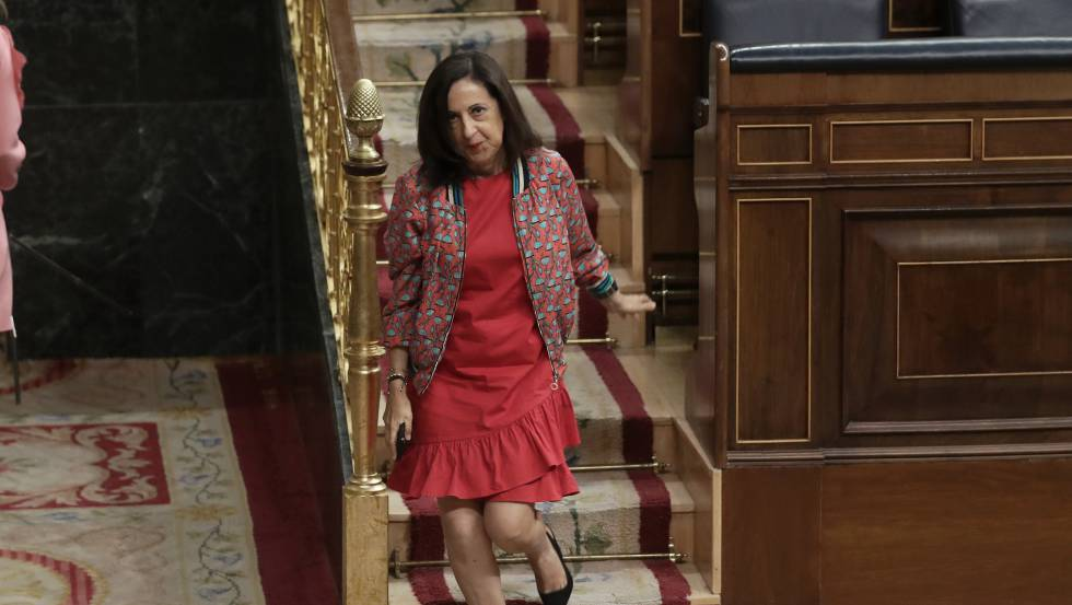 Margarita Robles, ministra de Defensa, en el Congreso.