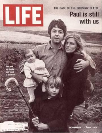 Portada de la revista Life en la que aparecen Paul y su familia asegurando que está vivo
