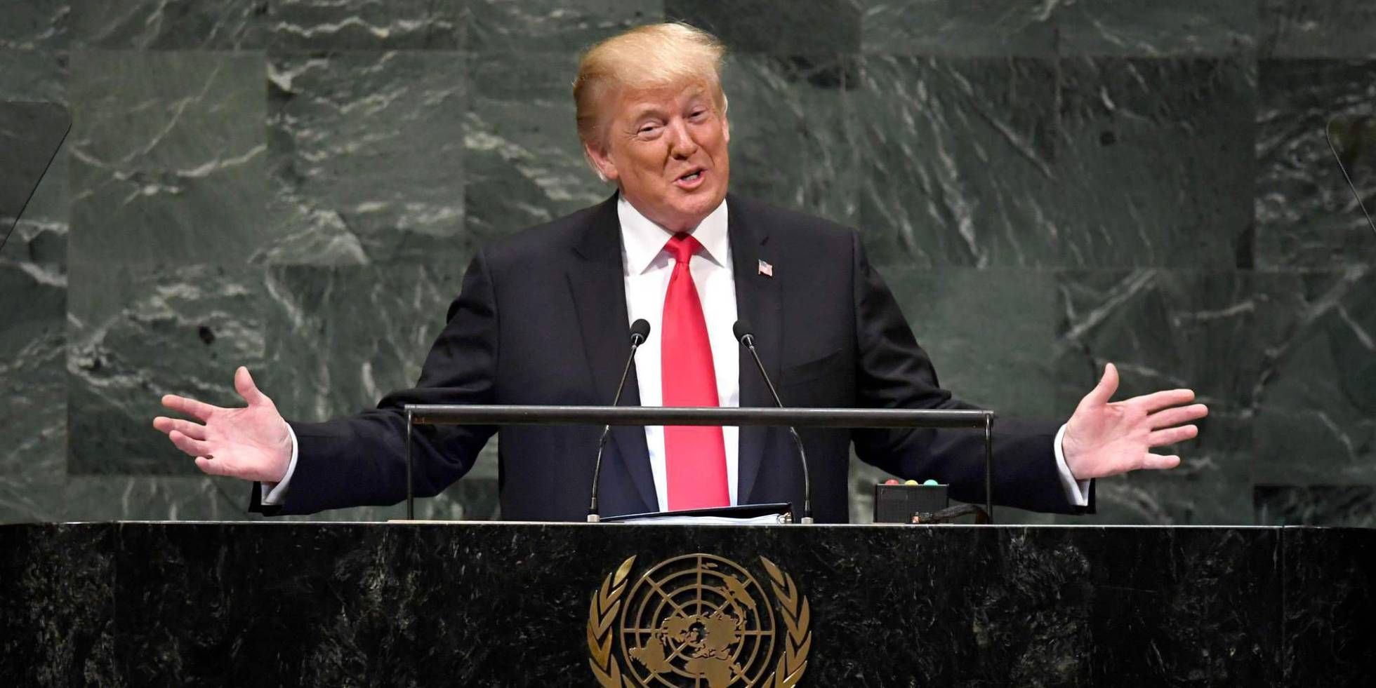 El presidente de Estados Unidos Donald Trump, durante su discurso en la 73ª Asambla General de la ONU.