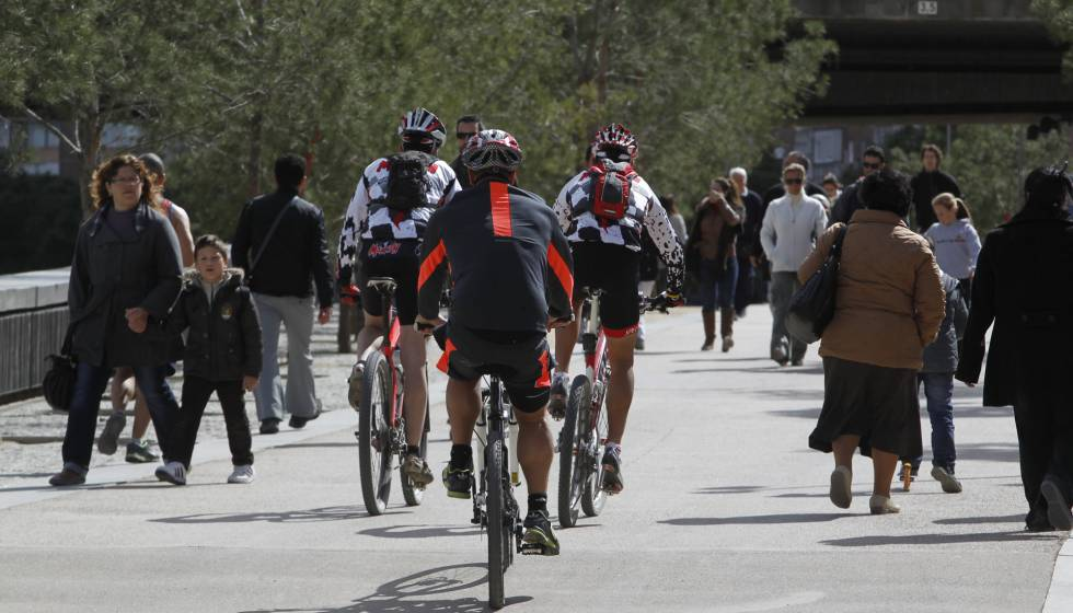 El Ayuntamiento prohibirá circular a las bicis por Madrid Río