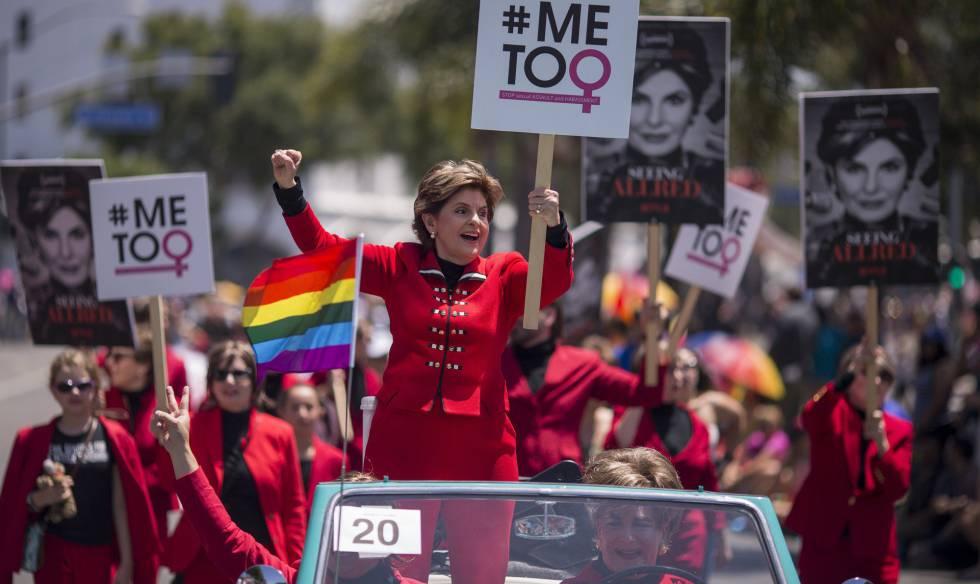 La abogada Gloria Allred en el desfile del Orgullo Gay, en Los Ángeles, el pasado junio.