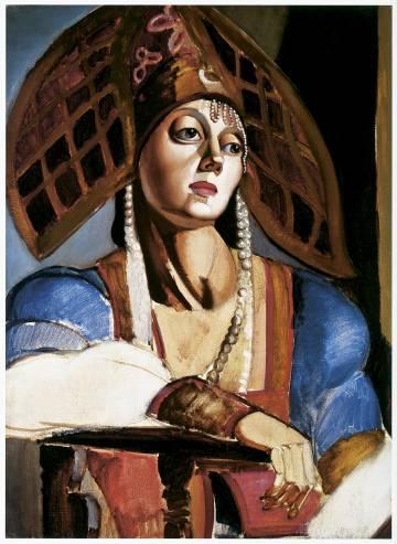 De arriba a abajo, La bella Rafaela, de 1927; L´écharpe bleue (La bufanda azul),; y la Bailarina rusa (1924-1925).