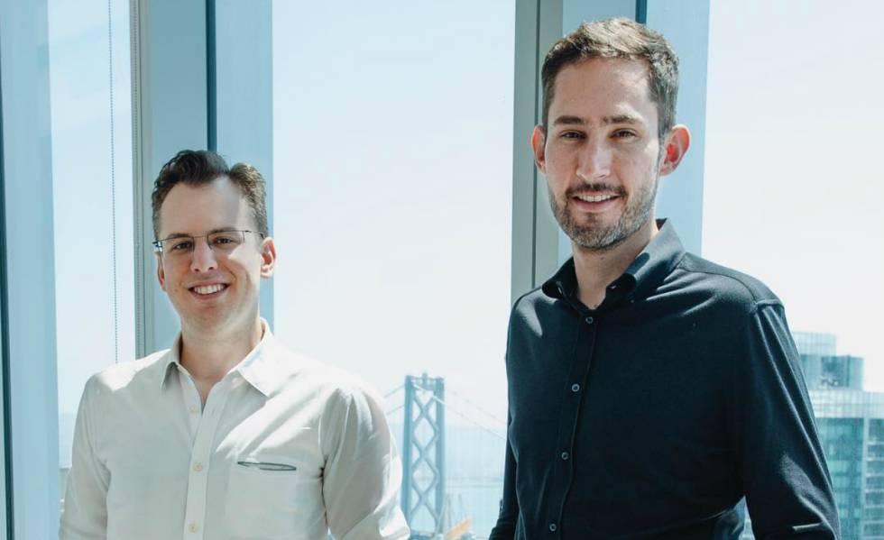 Mike Krieger, a la izquierda, y Kevin Systrom, en las oficinas de Instagram en San Francisco en mayo de 2018.
