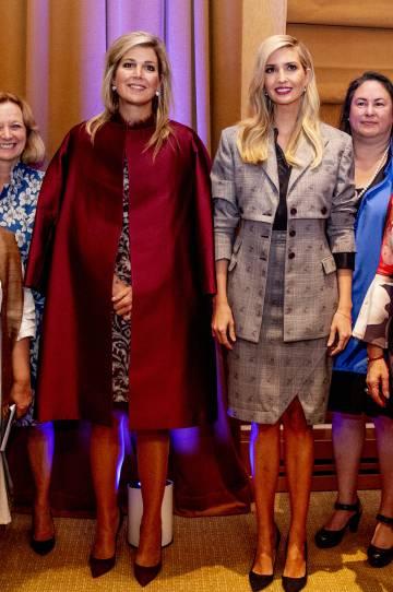 La reina Máxima de Holanda e Ivanka Trump el pasado martes, en Nueva York.