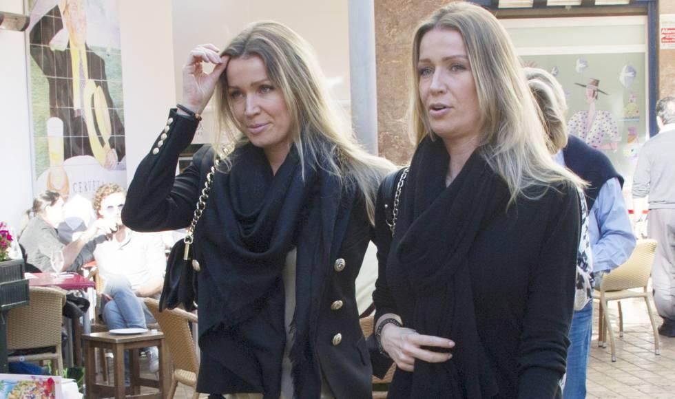 Nicole y Barbara Kimpel, en Málaga, en diciembre de 2016.