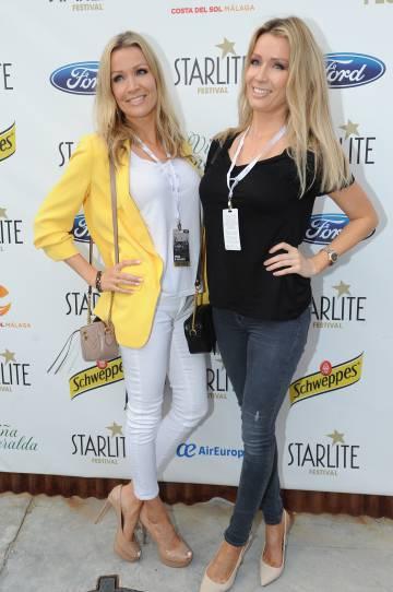 Las hermanas Kimpel en la gala Starlite, en Marbella, el pasado julio.