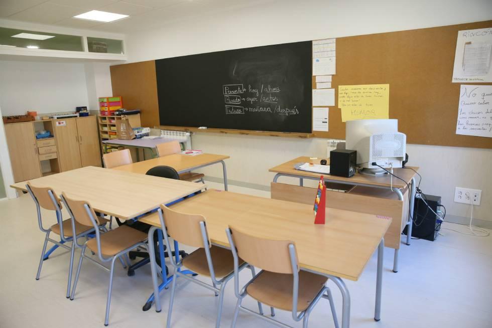 Aula de un colegio de Castilla La Mancha.rn