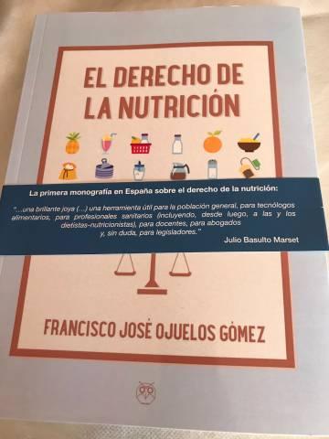 Portada del libro 'El derecho de la nutrición'.