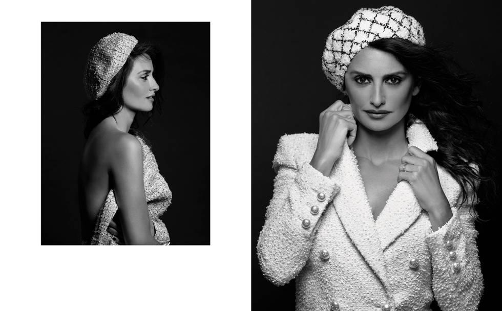 Penélope Cruz, fotografiada por Karl Lagerfeld en dos imágenes de su primera campaña para Chanel.