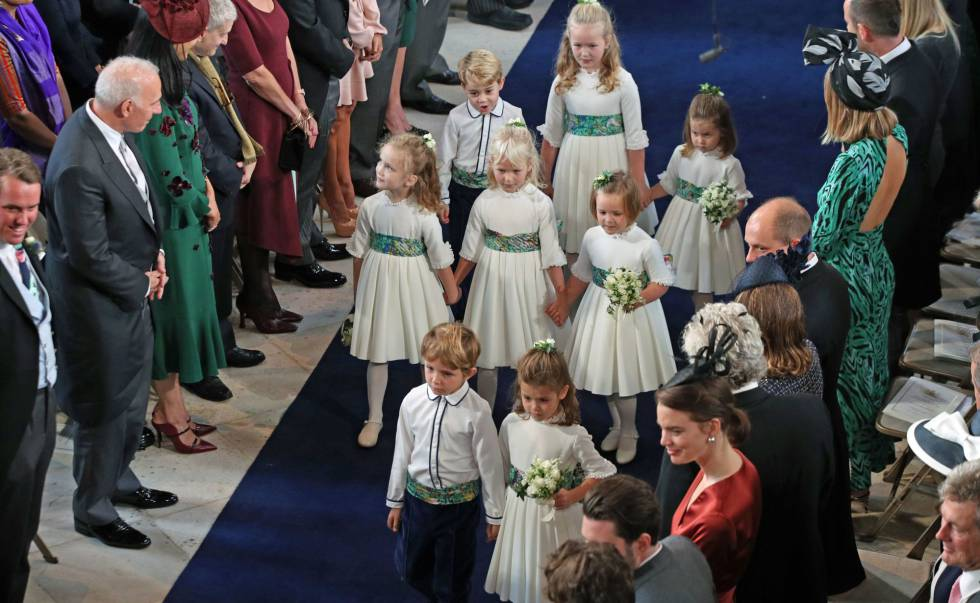 Los pajes y damas de honor de la boda de Eugenia de York y Jack Brooksbank.