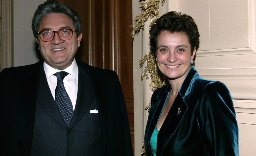 Wojciech Janowski y su esposa Sylvia Ratkowski-Pastor, hija de Hélène Pastor, en Mónaco, en 2003.