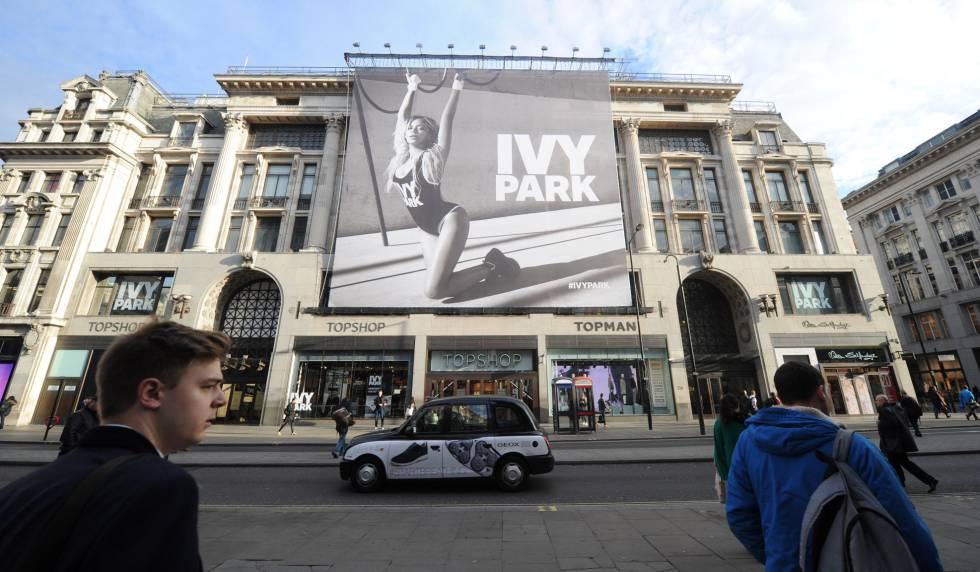 El anuncio de la colección de ropa Ivy Park de Beyonce, en Londres (Gran Bretaña), en 2016