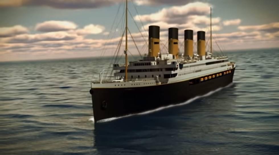 Una proyección del futuro 'Titanic II'.
